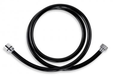 NOVASERVIS PVC/150,5 Sprchová hadice plastová 150 cm černá-chrom