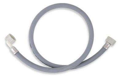 NOVASERVISPračková napouštěcí hadice s kolenem šedá 100cm