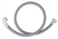 NOVASERVISPračková napouštěcí hadice s kolenem šedá 400cm