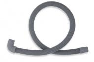 NOVASERVIS PVK/150 Pračková vypouštěcí hadice s kolenem 150 cm šedá-150cm