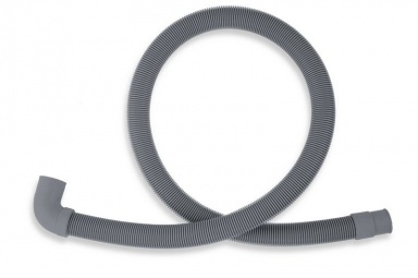 NOVASERVISPračková vypouštěcí hadice s kolenem šedá 250cm