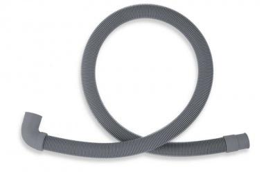 NOVASERVISPračková vypouštěcí hadice s kolenem šedá 400cm