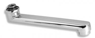 NOVASERVIS RAM1076,1 Výtokové ramínko 20 cm rovné bílá-chrom