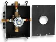NOVASERVIS BOX050 Montážní podomítkový box chrom