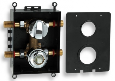 NOVASERVIS BOX050R Montážní podomítkový box s přepínačem chrom