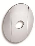 NOVASERVIS KRYT0050A,0 Kryt podomítkového boxu OVAL chrom
