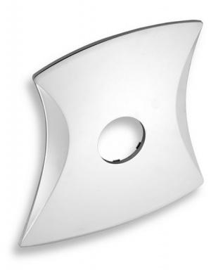 NOVASERVIS KRYT0050D,0 Kryt podomítkového boxu LINIE chrom